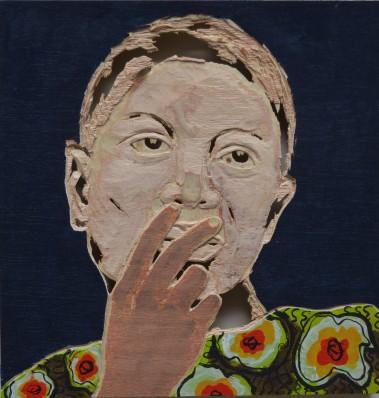 Am 4. März ist die letzte Gelegenheit, Kunstwerke des Kongolesen Aimé Mpane zu sehen. Hier: Aus der Serie